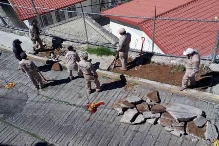 Presidencia Pachuca inicia trabajos de rehabilitación en calle Plaza Patoni