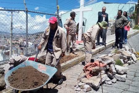 Presidencia Pachuca inicia trabajos de rehabilitación en calle Plaza Patoni2