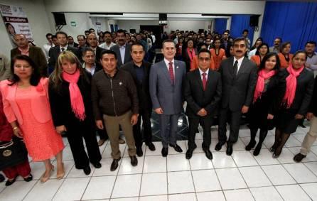 Rinden protesta autoridades académicas y administrativas de la UAEH en Sahagún y Apan3
