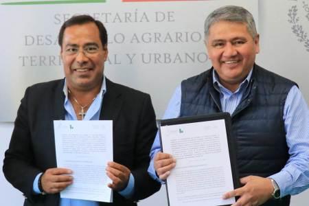 Sedatu Delegación Hidalgo firma convenio de colaboración con Liconsa