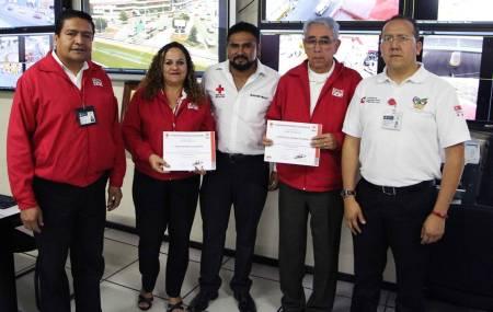 Brindan capacitación en primeros auxilios a operadores del 911 de emergencias en Hidalgo .jpg