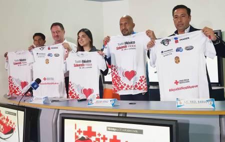 """Cruz Roja presentó la playera para la carrera y caminata """"Todo México salvando vidas"""""""