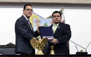 Entrega Omar Fayad Primer Informe de labores al Congreso de Hidalgo2