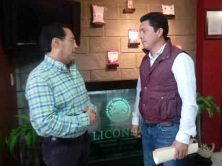 Gerente de Liconsa Hidalgo sostiene reunión de trabajo con alcalde de Zempoala
