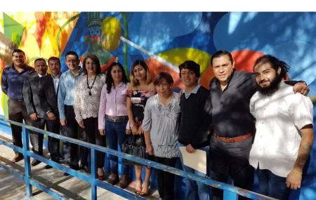 """Inauguran en Tizayuca los murales """"Génesis del Agua"""" y """"Agua en la Sangre"""""""