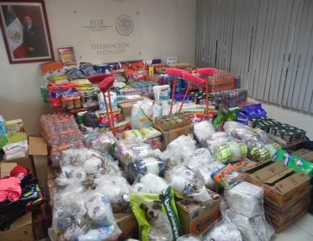 La Delegación de PGR en Hidalgo dona alimentos y medicina a los damnificados del sismo de la Ciudad de México2