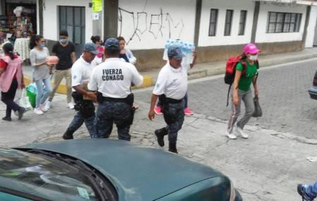 Policía de Hidalgo colaboró en tareas humanitarias y de seguridad en Puebla mediante Fuerza Conago