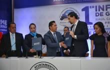 Raúl Camacho Baños presenta su primer informe de gobierno 2