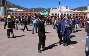 Realizan simulacro de alerta sísmica en Palacio de Gobierno4