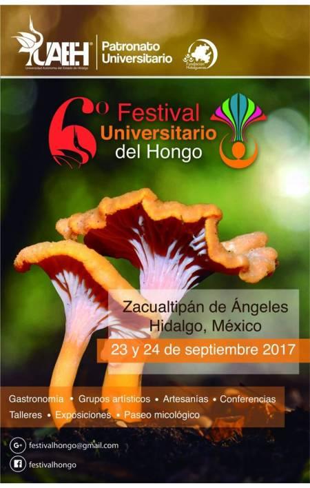 Realizará UAEH VI Festival del Hongo