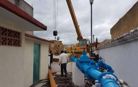 CAAMTH Renueva equipo de bombeo en pozo que beneficia  a 12 Fraccionamientos de Tizayuca2.jpg