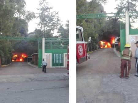 Incendio en recicladora de aceites ubicada en Zona Industrial de Tizayuca2