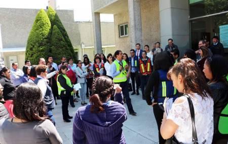 Instruyen a trabajadores del Poder Judicial sobre cómo actuar ante contingencias