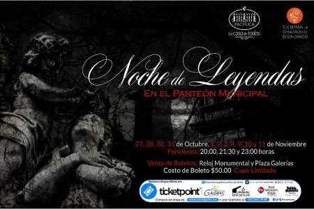 Llega Noche de Leyendas al Panteón Municipal de Pachuca
