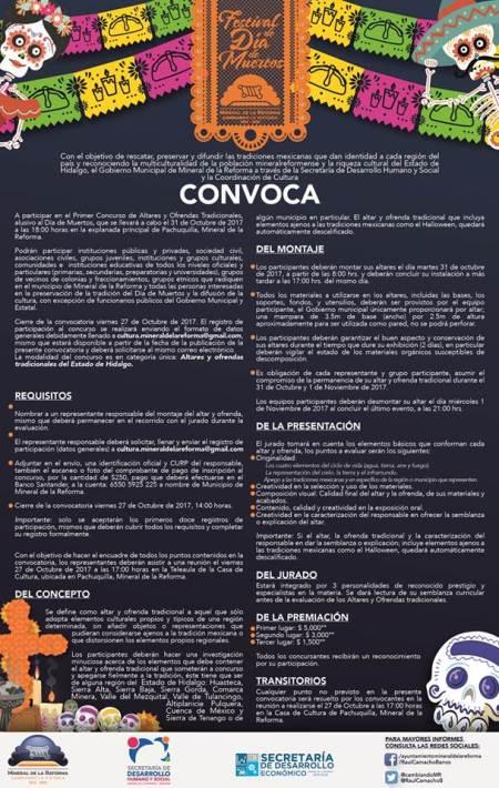 Mineral de la Reforma, invita al rescate del Día de Muertos con concurso de altares y ofrendas tradicionales3