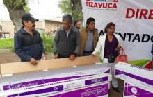 Realiza el alcalde de Tizayuca la segunda entrega de calentadores solares a mitad de precio1