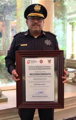 Reconoce SSPH trayectoria de comandante Sebastián Moreno Díaz0