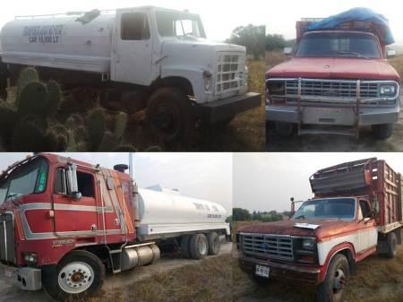 Aseguran pipas y camionetas con hidrocarburo en Atotonilco de Tula