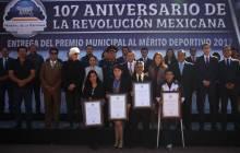 Entrega Raúl Camacho, premio municipal al Mérito Deportivo en el marco del 107 Aniversario de la Revolución Mexicana5