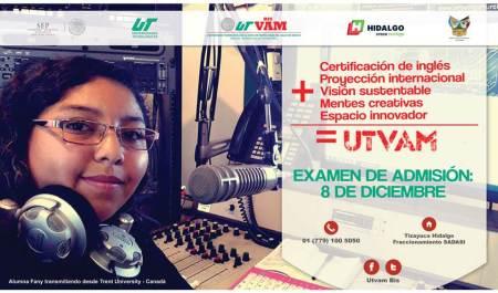 Examen de admisión UTVAM para ingreso enero 2018