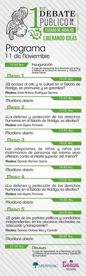 Horarios mesas del debate (2)
