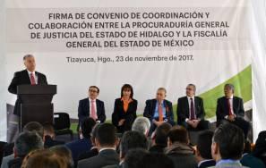 PGJEH y la FGJEM combatirán de manera conjunta la delincuencia en sus zonas colindantes2