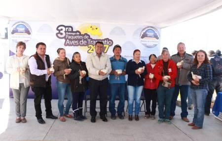 Realizan tercera entrega de Aves de Traspatio de  Mineral de la Reforma 2.jpg