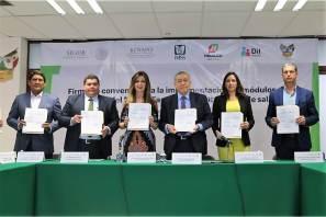 Signan convenio de colaboración Gobierno del Estado de Hidalgo e instituciones de salud