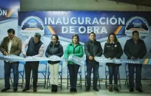Alcalde Raúl Camacho inaugura pavimentaciones hidráulicas en Los Gemelos y Apepelco 2