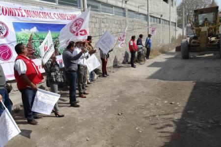 Atiende CNC obras de pavimentación en Progreso de Obregón