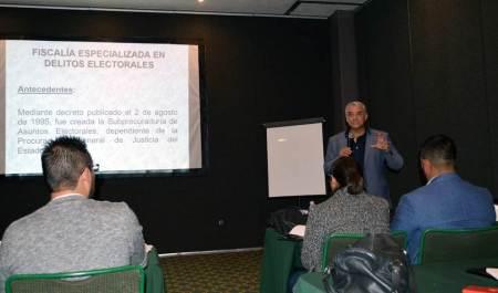 Fiscalía Especializada en Delitos Electorales capacitó a integrantes de los Consejos Distritales del IEEH2