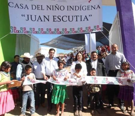 Inauguran Nuvia Mayorga Delgado y Antonio Echevarría, Casa del Niño Indígena en Nayarit