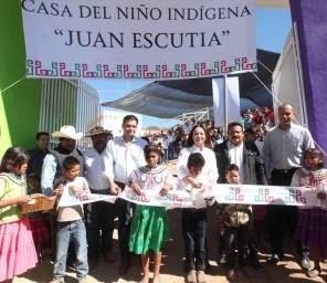 Inauguran Nuvia Mayorga Delgado y Antonio Echevarría, Casa del Niño Indígena en Nayarit1