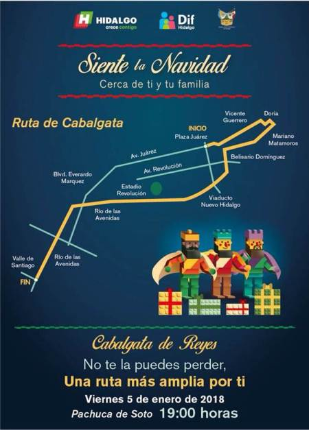Operativo de seguridad y vialidad por Cabalgata de Reyes en Pachuca