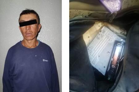 Policías estatales capturan a probable desvalijador de vehículos en Pachuca.jpg