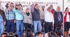 PRI Estatal coloca la primera piedra para construcción del Comité Municipal de Acatlán1