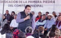 PRI Estatal coloca la primera piedra para construcción del Comité Municipal de Acatlán2