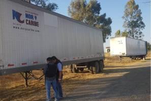 Recuperan más de 27 toneladas de azúcar, dos remolques y una caja de carga