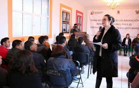 Suman esfuerzos STPSH y Ayuntamiento de Santiago Tulantepec para formalización de Empleo2