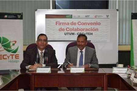 UTVM y CECYTE Hidalgo establecen convenio de colaboración