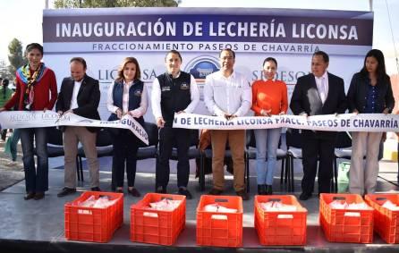 Camacho inaugura Lechería LICONSA en Paseos de Chavarría 1