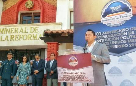 Conmemoran con evento cívico 101 Aniversario de la Promulgación de la Constitución, en Mineral de la Reforma1