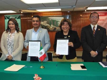 El Colegio de Ingenieros Civiles de Hidalgo y el ITESA firmaron convenio de colaboración académico