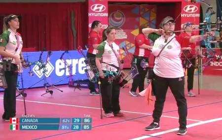 Equipo mexicano cuarto sitio en el Campeonato Mundial de tiro con arco bajo techo .jpg
