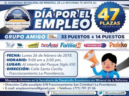 Próximo lunes Día por el empleo en Mineral de la Reforma2.jpg