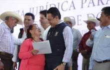 títulos agrarios para dar tranquilidad a las familias en la región de Tezontepec de Aldama1