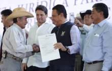 títulos agrarios para dar tranquilidad a las familias en la región de Tezontepec de Aldama10