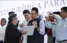 títulos agrarios para dar tranquilidad a las familias en la región de Tezontepec de Aldama7