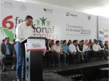 Alfonso Delgadillo acompaño a las autoridades estatales y federales en la inauguración de la Sexta Feria Nacional del Empleo8