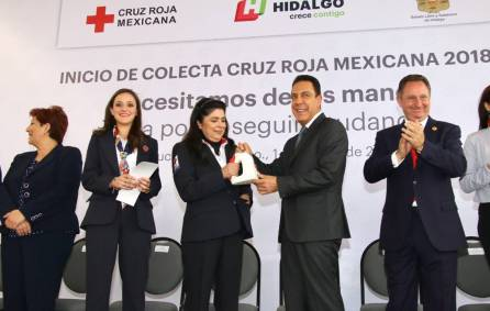 Arranca en Hidalgo colecta Cruz Roja Mexicana 20187